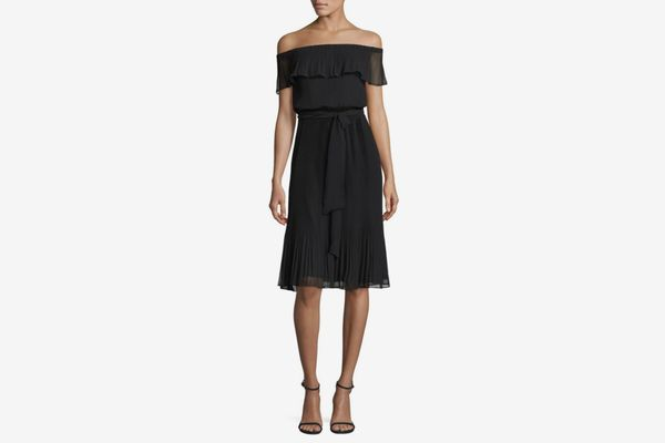 Michael by Michael Kors Off-the-Shoulder Ruffle-Pleat Dress