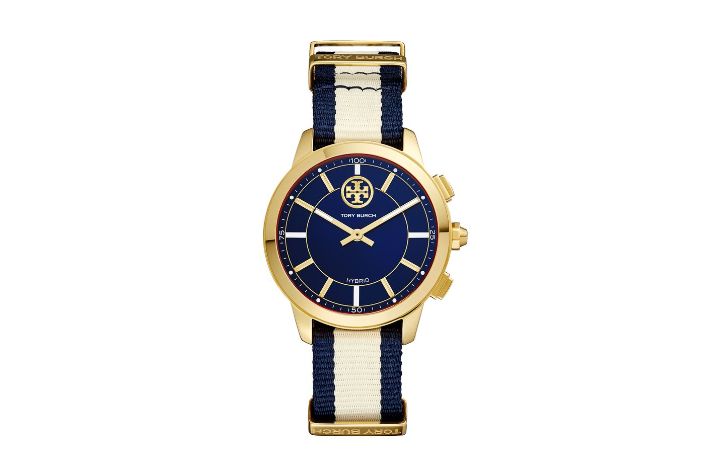 ToryTrack Hybrid Smart Watch Navy/Ivory/Gold-Tone