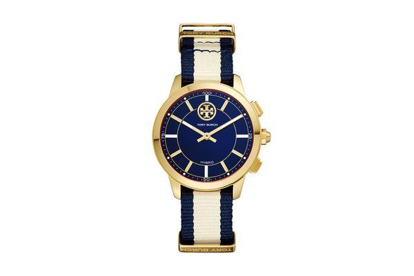 ToryTrack Hybrid Smart Watch Navy/Ivory/Gold-Tone