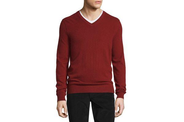 Vince Cashmere Long-Sleeve V-Neck Sweater