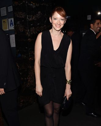 Actress Judy Greer attends the Film District and Chrysler with The Cinema Society premiere of