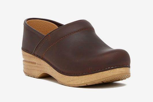 Dansko Professional Wedge Platform Leather Clog