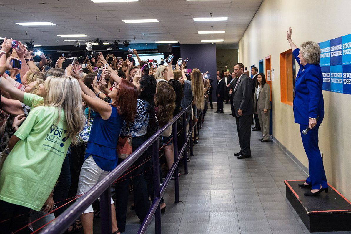 Hillary Clinton election year selfie