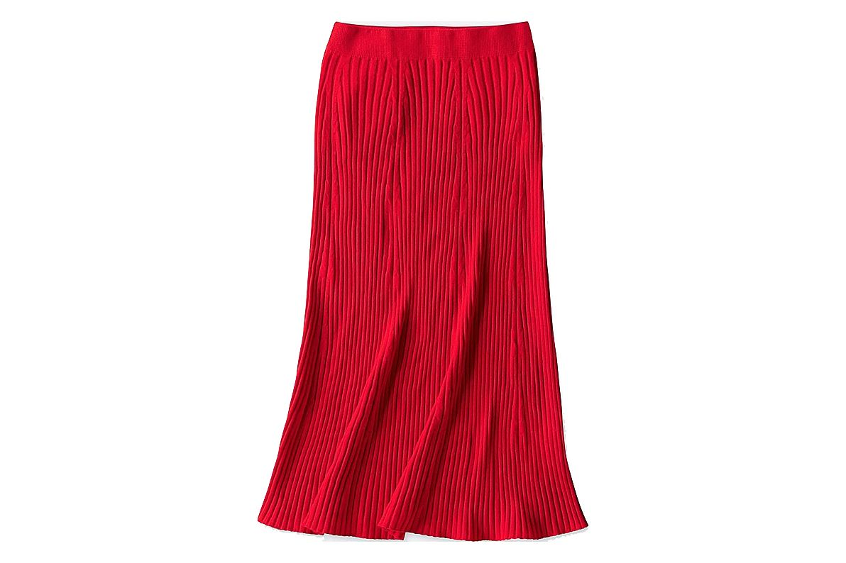 Merino Ribbed Skirt