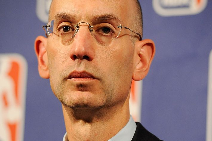 NEW YORK, NY - OCTOBER 20:  Deputy Commissioner Adam Silver speaks at a press conference after NBA labor negotiations at Sheraton New York Hotel & Towers on October 20, 2011 in New York City. Silver announced that talks have broken down and no further meetings are scheduled.  (Photo by Patrick McDermott/Getty Images)