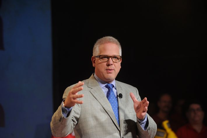 Glenn Beck speaks during the Dish Network War Of The Words at Hammerstein Ballroom on September 13, 2012 in New York City.