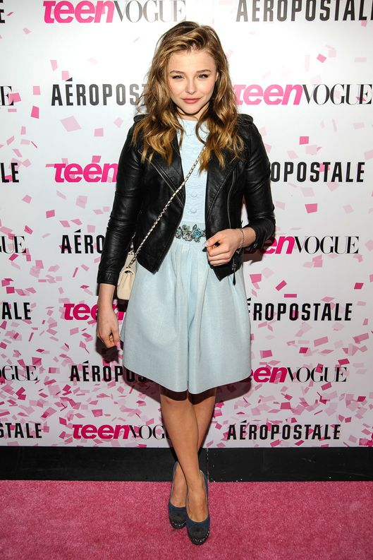 10th Anniversary Of Teen Vogue And Aeropostale's Celebration Of Chloe Grace Moretz's Sweet 16 at Aeropostale Times Square. Pictured: Chloe Moretz