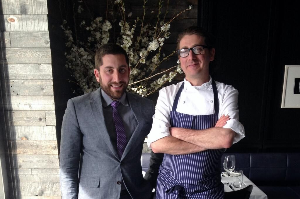 Korsh, right, with North End Grill General Manager Kevin Richer.