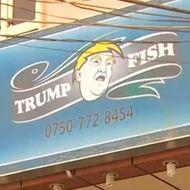 Restaurant serving bottom feeders names itself after trump for Trump feeding fish
