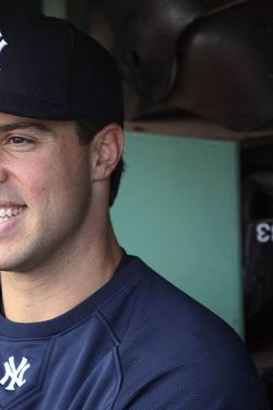 BOSTON - MAY 9:  Mark Teixeira #25 of the New York Yankees smiles while talking to reporters before a game against the Boston Red Sox at Fenway Park on May 9, 2010 in Boston, Massachusetts. (Photo by Jim Rogash/Getty Images) *** Local Caption *** Mark Teixeira