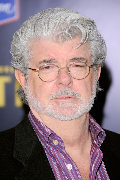 "NEW YORK, NY - DECEMBER 11:  Film director George Lucas poses for a photo at the ""The Adventures of TinTin"" New York premiere at the Ziegfeld Theatre on December 11, 2011 in New York City.  (Photo by Jemal Countess/Getty Images)"