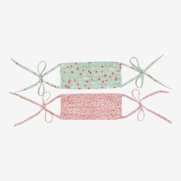 Batsheva Set of Two Floral-print Cotton Face Coverings