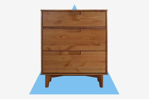Carlisa Groove Handle Wood 3 Drawer Chest
