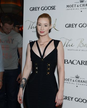 LAS VEGAS, NV - MAY 24: Iggy Azalea arrives at The Bank nightclub at the Bellagio on May 24, 2014 in Las Vegas, Nevada. (Photo by Denise Truscello/WireImage)