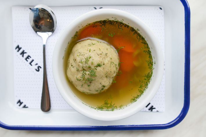 Matzo-ball soup.