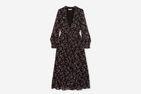MICHAEL Michael Kors Ruffled Floral-Print Chiffon Wrap Dress