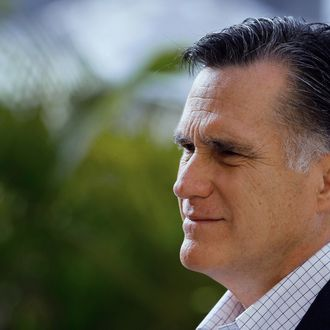 TAMPA, FL - JANUARY 23: Republican presidential candidate and former Massachusetts Gov. Mitt Romney Mitt Romney speaks with the media after holding a Roundtable on Housing Issues on January 23, 2012 in Tampa, Florida. Mitt Romney continues his campaign ahead of the January 31st Florida primary. (Photo by Joe Raedle/Getty Images)