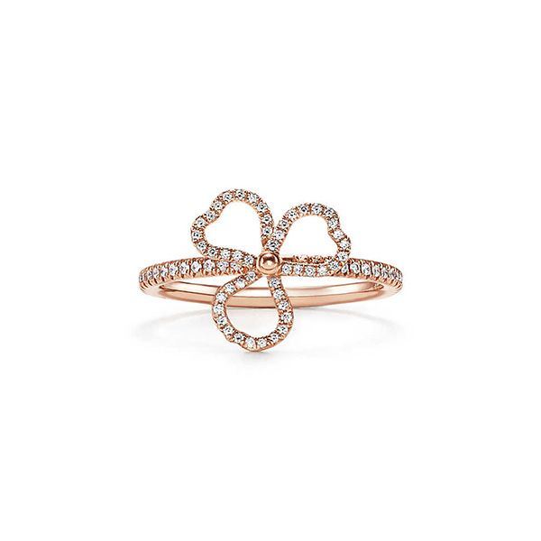 Tiffany Paper Flowers™ Diamond Open Flower Ring