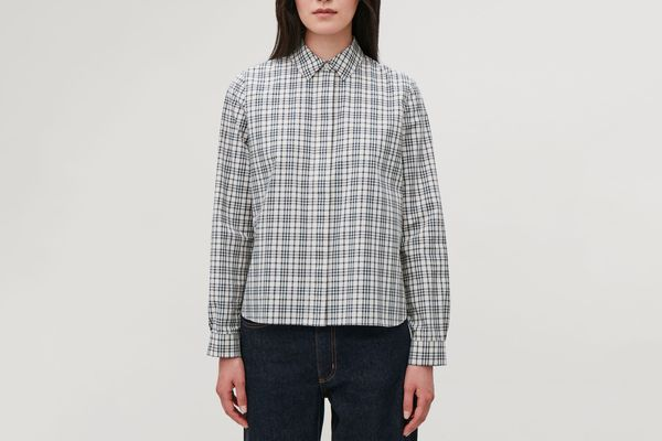 Cos Checked Cropped Shirt