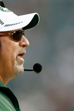 PHILADELPHIA - AUGUST 30:  New York Jets offensive coordinator Tony Sparano coaches during their preseason game against the Philadelphia Eagles at Lincoln Financial Field on August 30, 2012 in Philadelphia, Pennsylvania.  (Photo by Jeff Zelevansky/Getty Images)