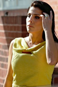 Jill Kelley leaves her home Monday, Nov 12, 2012 in Tampa, Fla. Kelley is identified as the woman who allegedly received harassing emails from Gen. David Petraeus' paramour, Paula Broadwell. She serves as an unpaid social liaison to MacDill Air Force Base in Tampa, where the military's Central Command and Special Operations Command are located.
