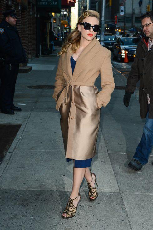 Scarlett Johansson Evokes Old School Glamour The Cut