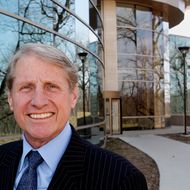 FILE - This Monday, April 4, 2011 file photo shows Russ Wasendorf, Sr., CEO of Peregrine Financial Group, Inc. in Cedar Rapids, Iowa. A complaint filed Friday, July 13, 2012 in U.S. District Court in Cedar Rapids says Wasendorf, Sr., 64, made false statements to the U.S. Commodity Futures Trading Commission about the value of customer funds held by his company, Peregrine Financial Group, Inc. A press release from the U.S. Attorney's Office says Wasendorf was arrested Friday by FBI agents and is due in federal court in Cedar Rapids for an initial appearance. (AP Photo/Waterloo Courier, Rick Chase, File)