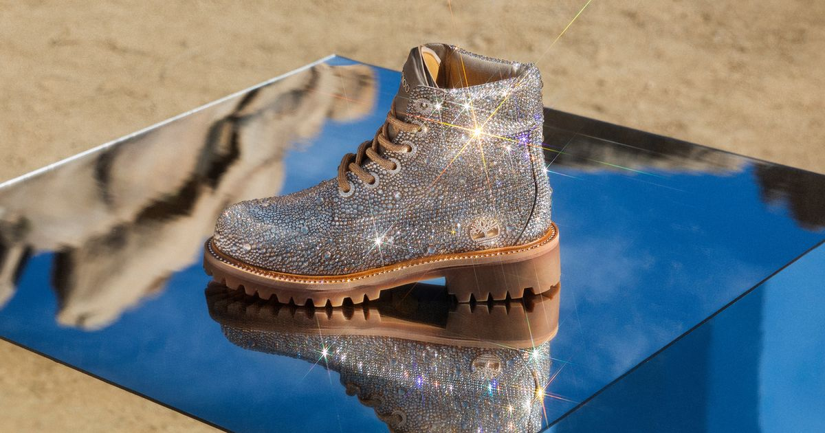Jimmy Choo Collaborated on Sparkly Boots