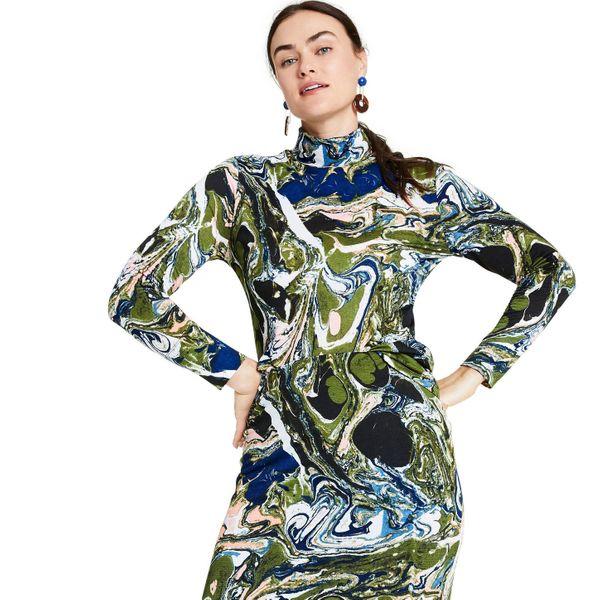 Rachel Comey x Target Women's Marble Print Long Sleeve Textured Turtleneck Shirt