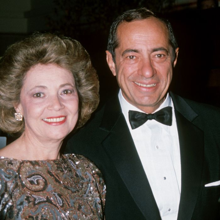 Matilda Cuomo and Mario Cuomo during 1989 New York City Columbus Day Party at Waldorf Astoria Hotel in New York City, New York, United States.
