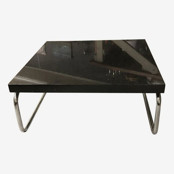 1990s Chrome and Granite Coffee Table