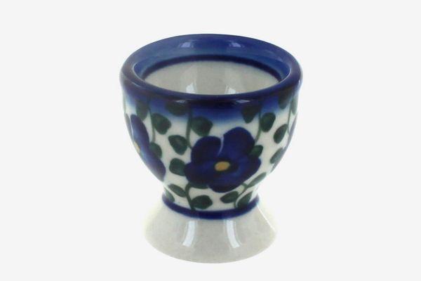 Polish Pottery Violets Egg Cup