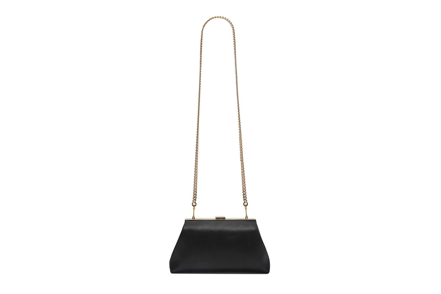 Mansur Gavriel Mini Volume Clutch, Black Silk