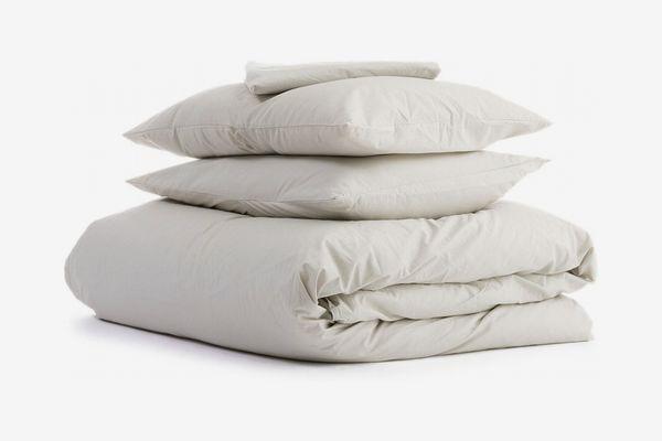 Parachute Percale Venice Set Fitted Sheet + Duvet Cover + 2 Standard Pillowcases
