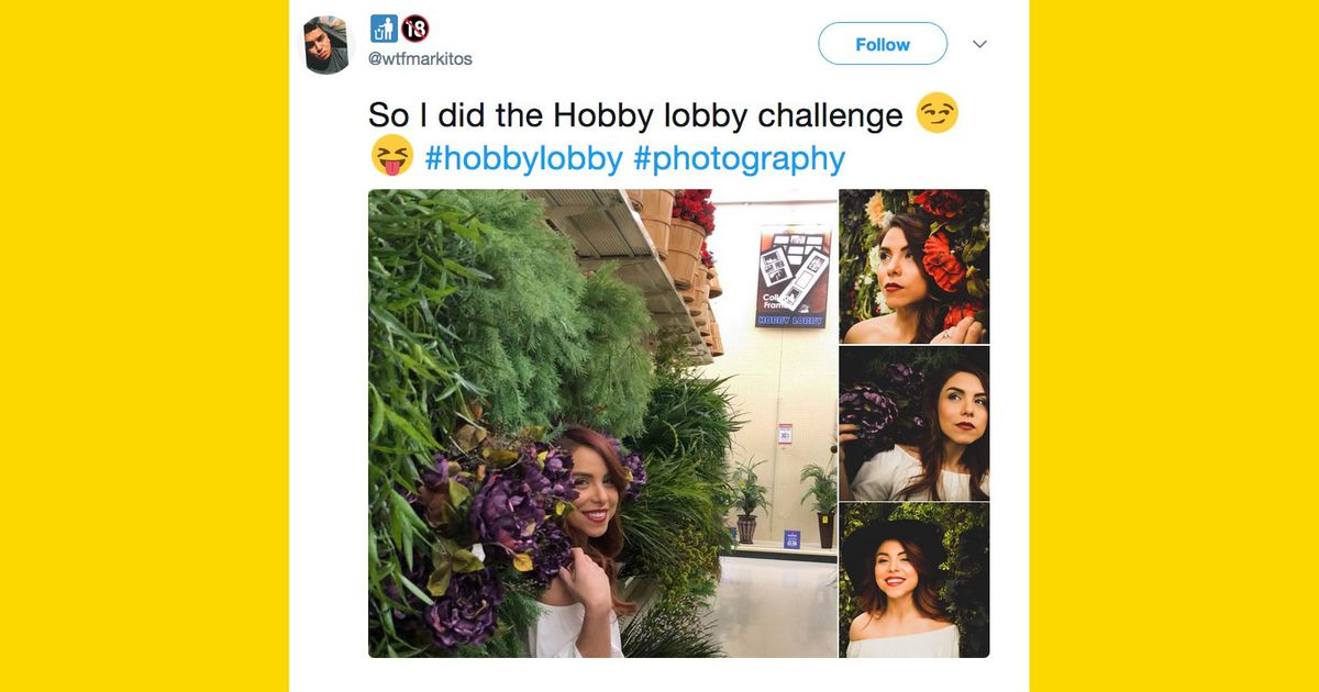 Hobby Lobby Challenge Has Teens Taking Pics In Craft Stores