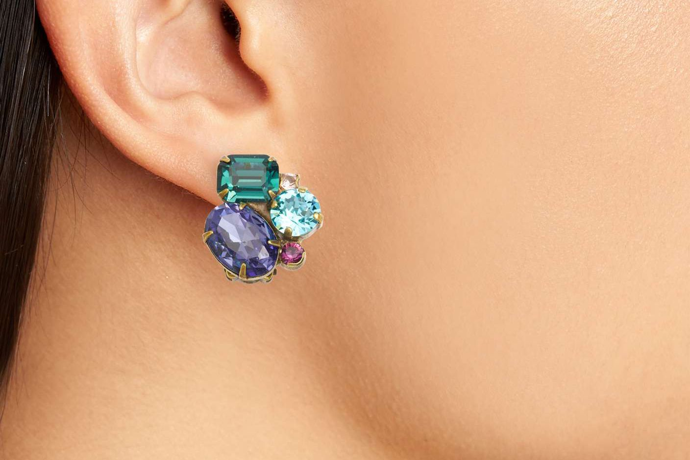 Sorrelli Crystal Cluster Clip Earrings