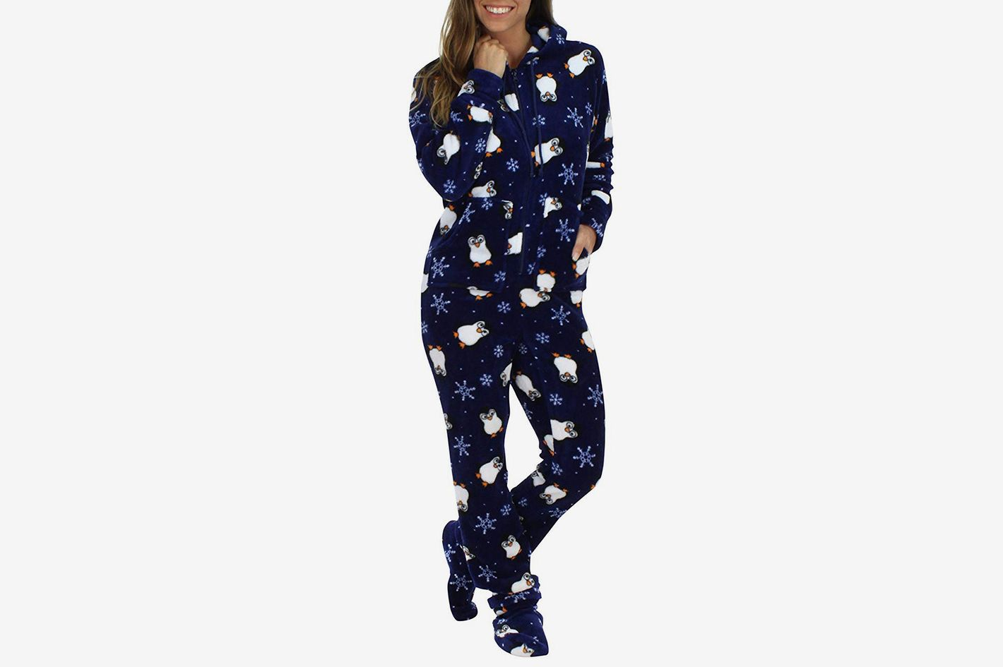 SleepytimePjs Women's Sleepwear Fleece Hooded Onesie