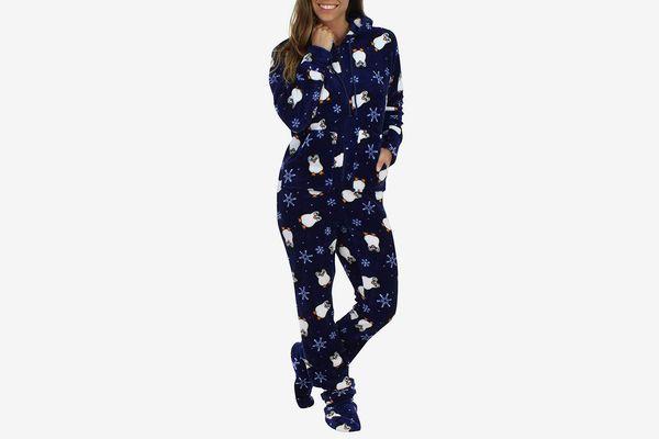 SleepytimePjs Women's Sleepwear Fleece Hooded Onesie