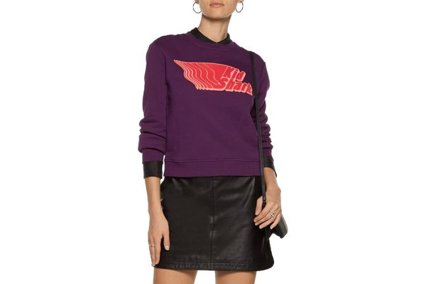 Carven Appliquéd Cotton Sweatshirt