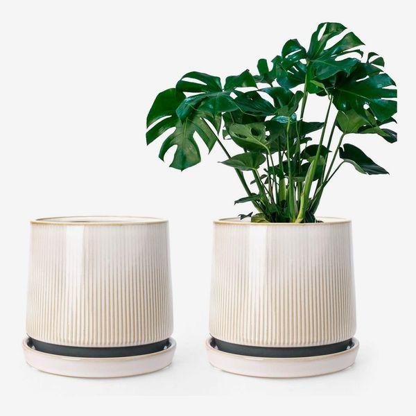 Ceramic 5-Inch Flower Planter Pots for Plants - Set of 2
