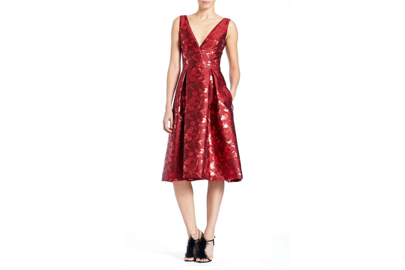 Carolina Herrera Sleeveless  Jacquard Dress