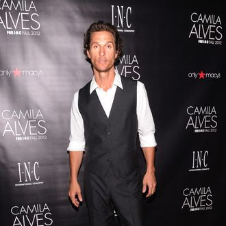 Actor Matthew McConaughey attends INC International Concepts Unveils Camila Alves As Brand Ambassador on July 26, 2012 in New York City.