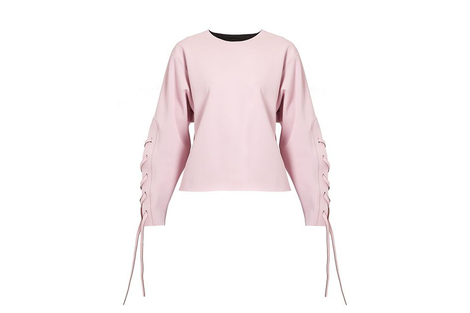 Charli Cohen Omega lace sleeve performance sweatshirt