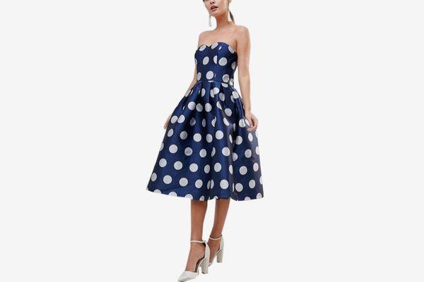 Chi Chi London Structured Midi Dress
