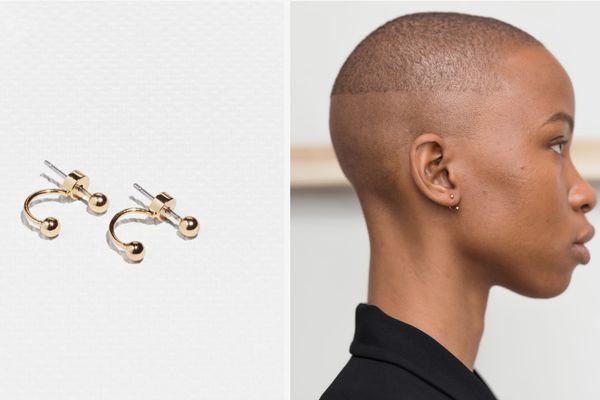 Orb Front-Back Earrings