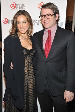NEW YORK, NY - OCTOBER 03:  Sarah Jessica Parker and Matthew Broderick attend Friends in Deed 20th Anniversary Gala at the American Museum of Natural History on October 3, 2011 in New York City.  (Photo by Theo Wargo/Getty Images)