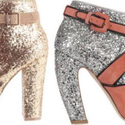 Steve Madden booties (left), Miu Miu (right).