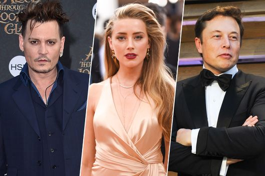 Johnny Depp, Amber Heard, and Elon Musk