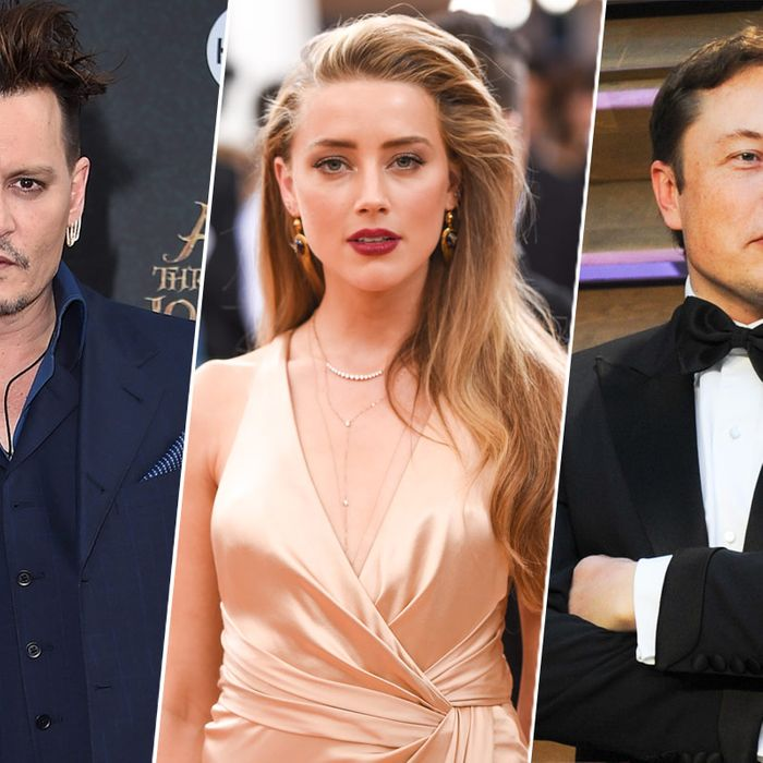 Johnny Depp, Amber Heard, and Elon Musk.