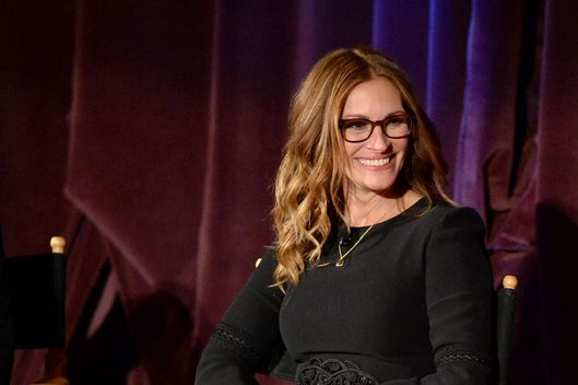 Actress Julia Roberts speaks onstage during the August: Osage County screening presented by The Weinstein Company at Westwood Village Theatre on November 11, 2013 in Los Angeles, California.